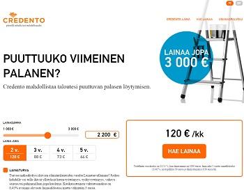 Credento.fi - Lainaa 1000 - 3000 € | VertaaLainaa.fi