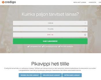Credigo - Vertaa lainaa ja totea edulliseksi!