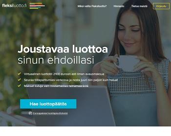 Fleksiluotto - Lainaa heti 2100 euroa.