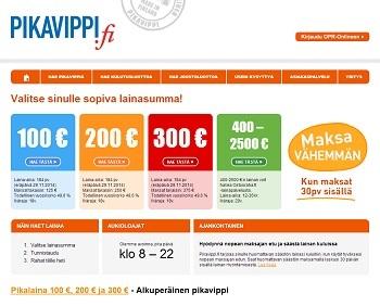 Pikavippi 100 - 300 €   VertaaLainaa.fi