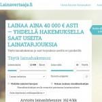 Lainavertaaja.fi - Lainaa netistä!
