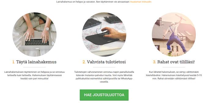 Lainasto Joustoluotto - Jatkuva tililuotto 2000 - 3000 euroa.