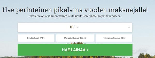 Lainasto Pikalaina pitkällä maksuajalla!
