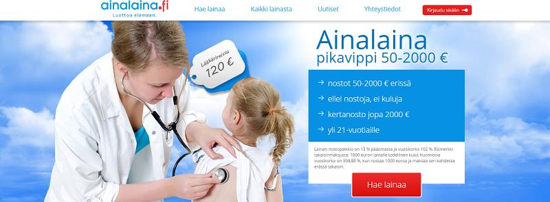Ainalaina.fi lainaa tarpeidesi mukaan.