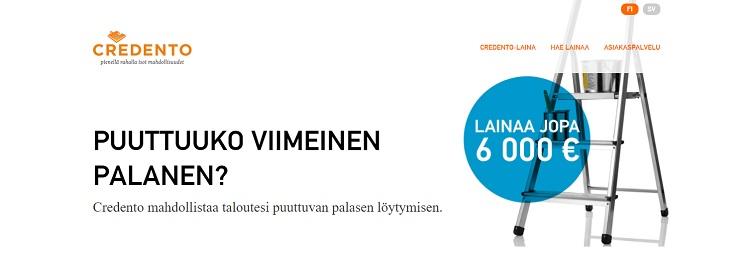 Hae lainaa Credento.fi palvelusta!