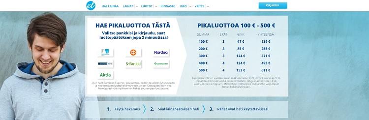 Hae pikalaina Euroloan.fi palvelusta!