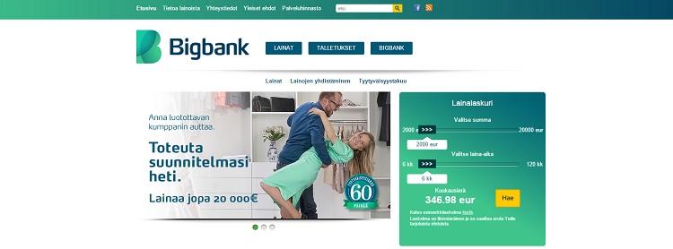 Hae lainaa Bigbank pankista!
