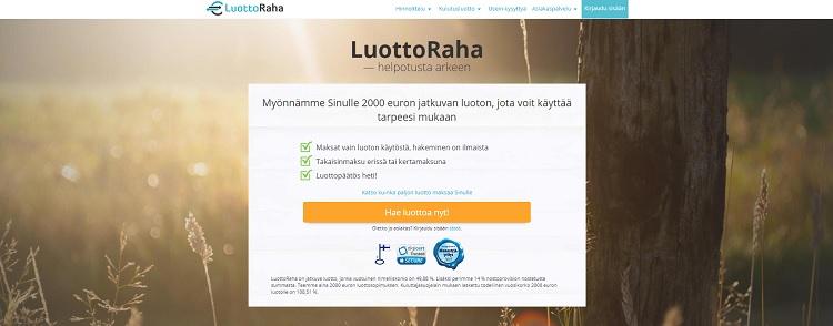 Hae lainaa LuottoRaha.fi palvelusta!