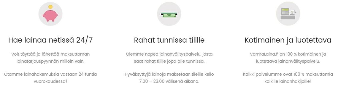 VarmaLaina.fi tärkeät tiedot.