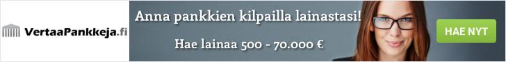 VertaaPankkeja.fi laittaa pankit kilpailemaan sinusta!