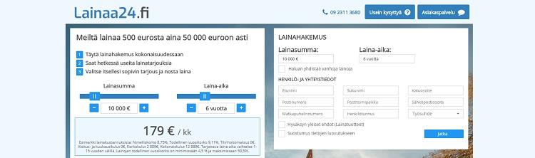 Hae lainaa Lainaa24.fi palvelusta!
