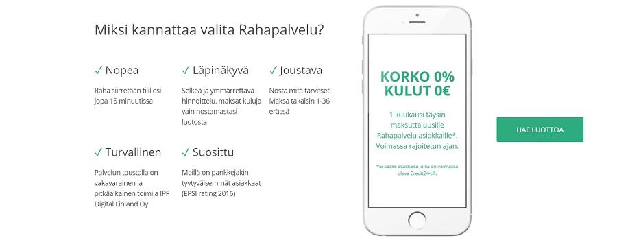 Hae lainaa Rahapalvelu.fi palvelusta!