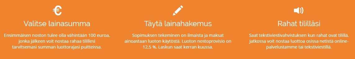 Netistälainaa.fi ilman takaajia tai vakuuksia.