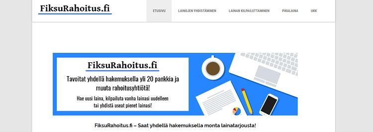 Hae lainaa FiksuRahoitus.fi palvelusta!