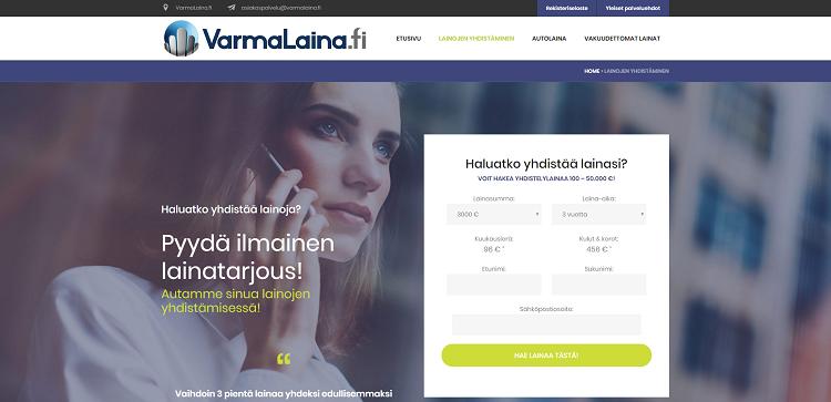 Aloita lainojen yhdistäminen VarmaLaina.fi palvelussa!