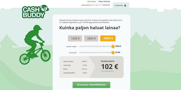 Hae lainaa CashBuddy.fi palvelusta!