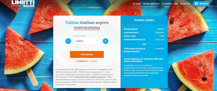 Limiitti.fi lainaa helpolla hakemuksella