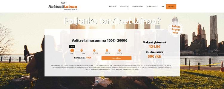 Hae lainaa NetistäLainaa.fi palvelusta!