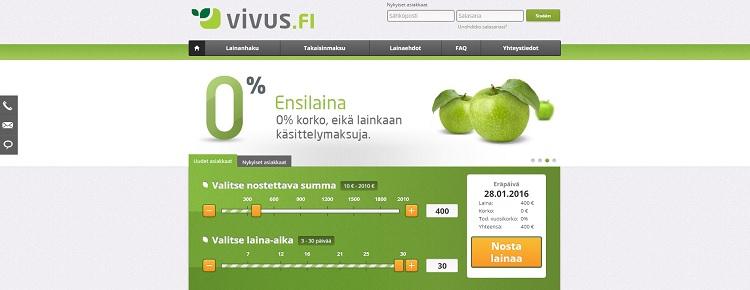 Hae lainaa Vivus.fi palvelusta!