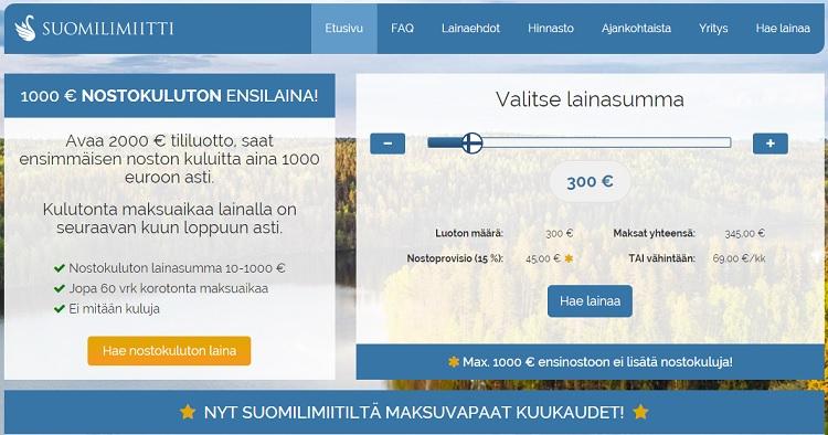 Hae lainaa Suomilimiitti.fi palvelusta!