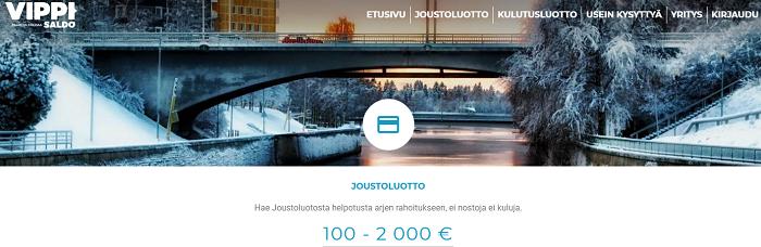 Vippi.fi Joustoluotto on aina vapaassa käytössäsi!