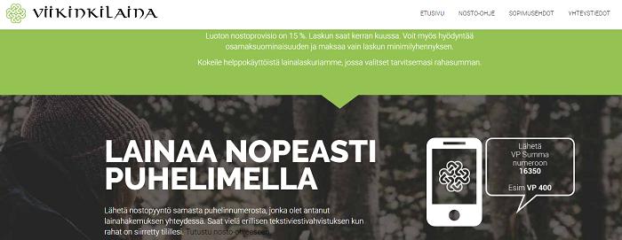 Viikinkilaina.fi - Lainan nosto nopeasti tekstiviestillä!