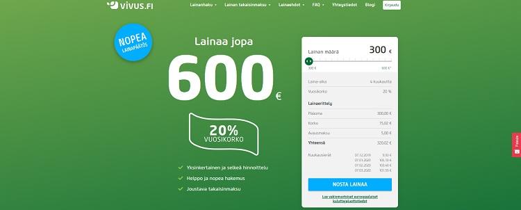 Hae lainaa Vivus.fi palvelusta