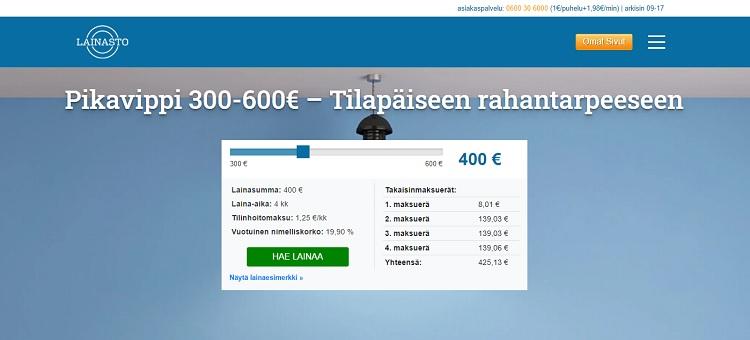 Hae lainaa Lainasto.fi palvelusta