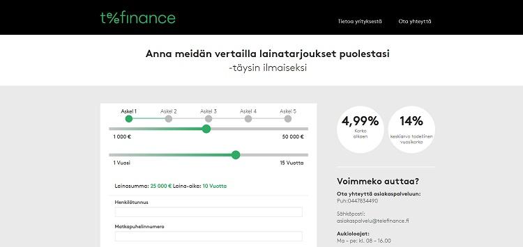 TeleFinance auttaa lainan kilpailuttamisessa