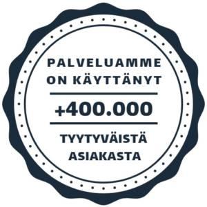 400 000 tyytyväistä asiakasta