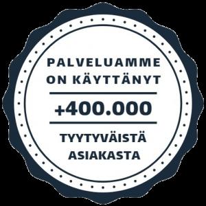 400.000 tyytyväistä asiakasta